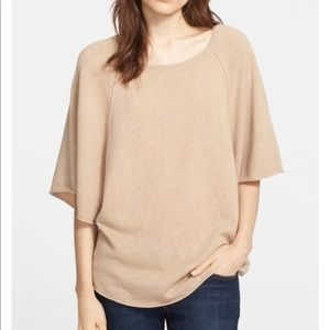 Joie Jolena cashmere wool Poncho Style sweater L